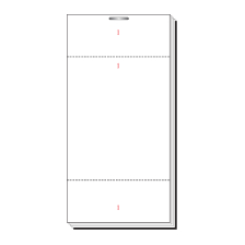 White Single Part, 100 Sheet, 2 1/2 x 5'' (2 1/2 x 3'' Tear Out With Additional 1'' Tear Out Slip) Numbered 1-100 In Red In 3 Positions