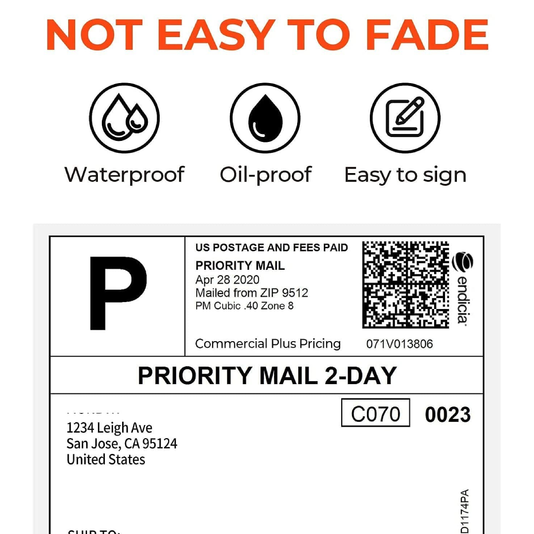 Thermal Direct Shipping Label (4'x6' 250 Labels)